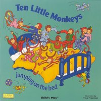 10 Little Monkeys Jumping on the Bed (Board Book)