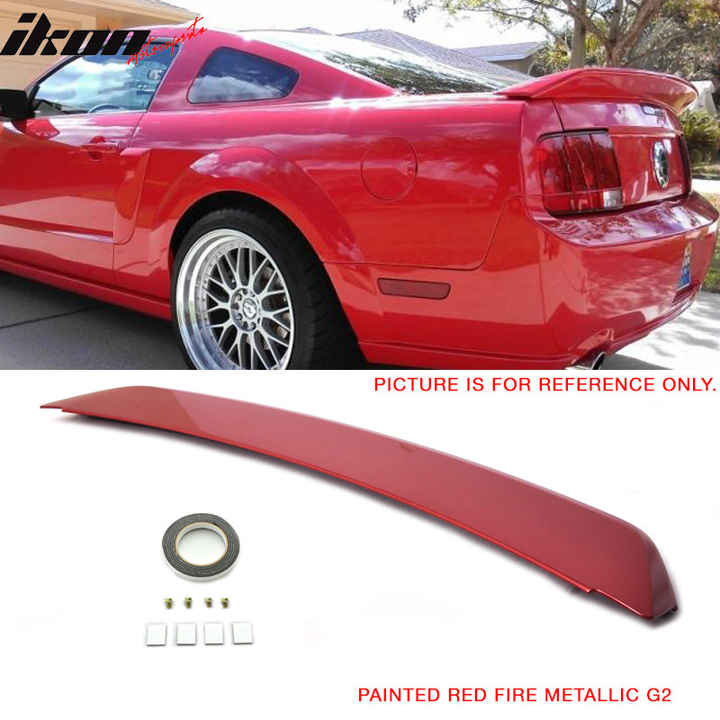 IKON MOTORSPORTS Matte Black ABS Rear Tail Wing Boot Lid Trunk Spoiler Compatible With 2015-2020 Ford Mustang 2-Door Coupe Convertible