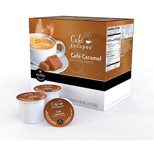 Cafe Escapes Cafe Caramel K-Cups Coffee, 16 count