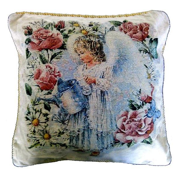 Tache Home Fashion Angel In The Garden Decorative Pillow Cover Walmart Com Walmart Com