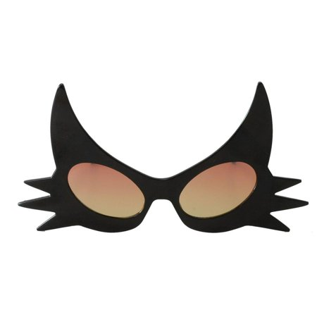 Black Cat Glasses with Yellow Lenses](Cat Contact Lenses Halloween)