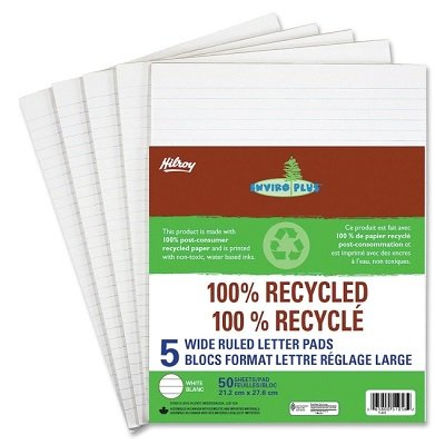 FIGURING PAD LETTER WIDE RULED 50 SHEETS ENVIRO PLUS 5/PACK - image 1 of 1