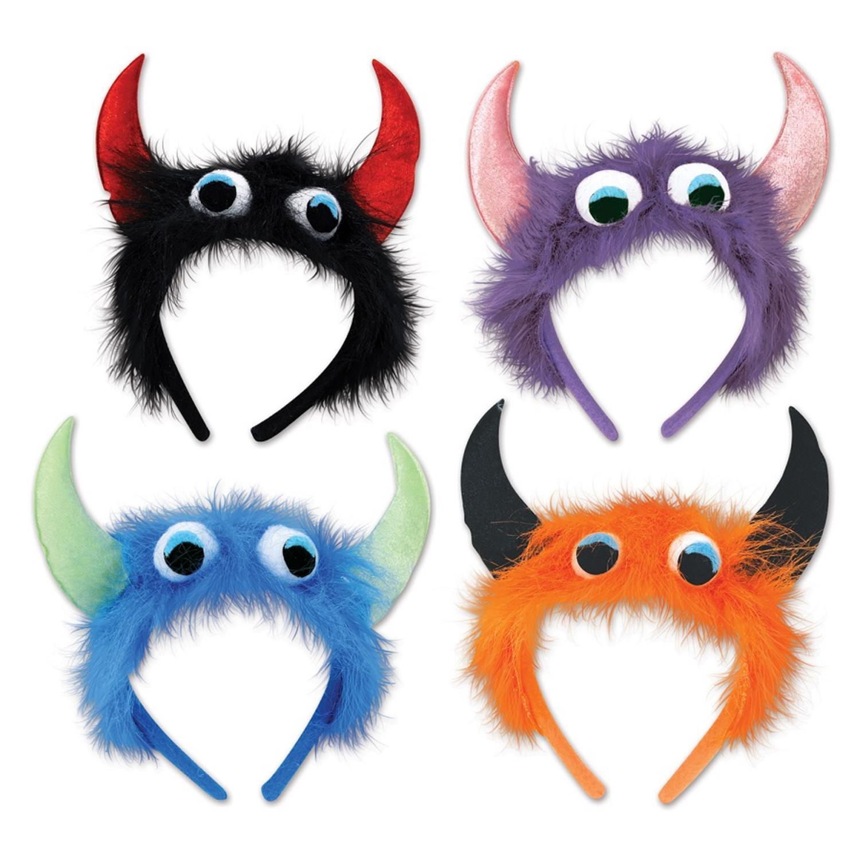 Club Pack of 12 Assorted Halloween Monster Headbands