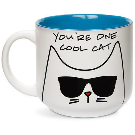 Coil Mug - Pavilion - You're One Cool Cat Blue 18oz Mug