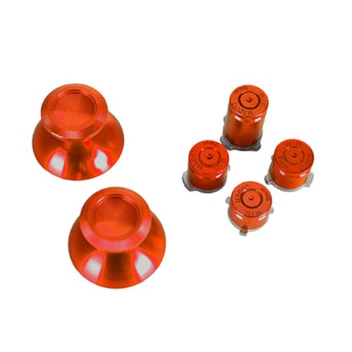 Xbox One - Repair Part - Aluminum Buttons & Analog Sticks - Red (Game Bully)