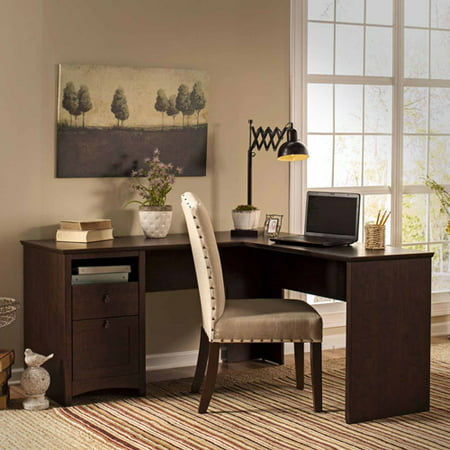 Bush Furniture Buena Vista 60w L Shaped Desk With Drawers In Multiple Colors