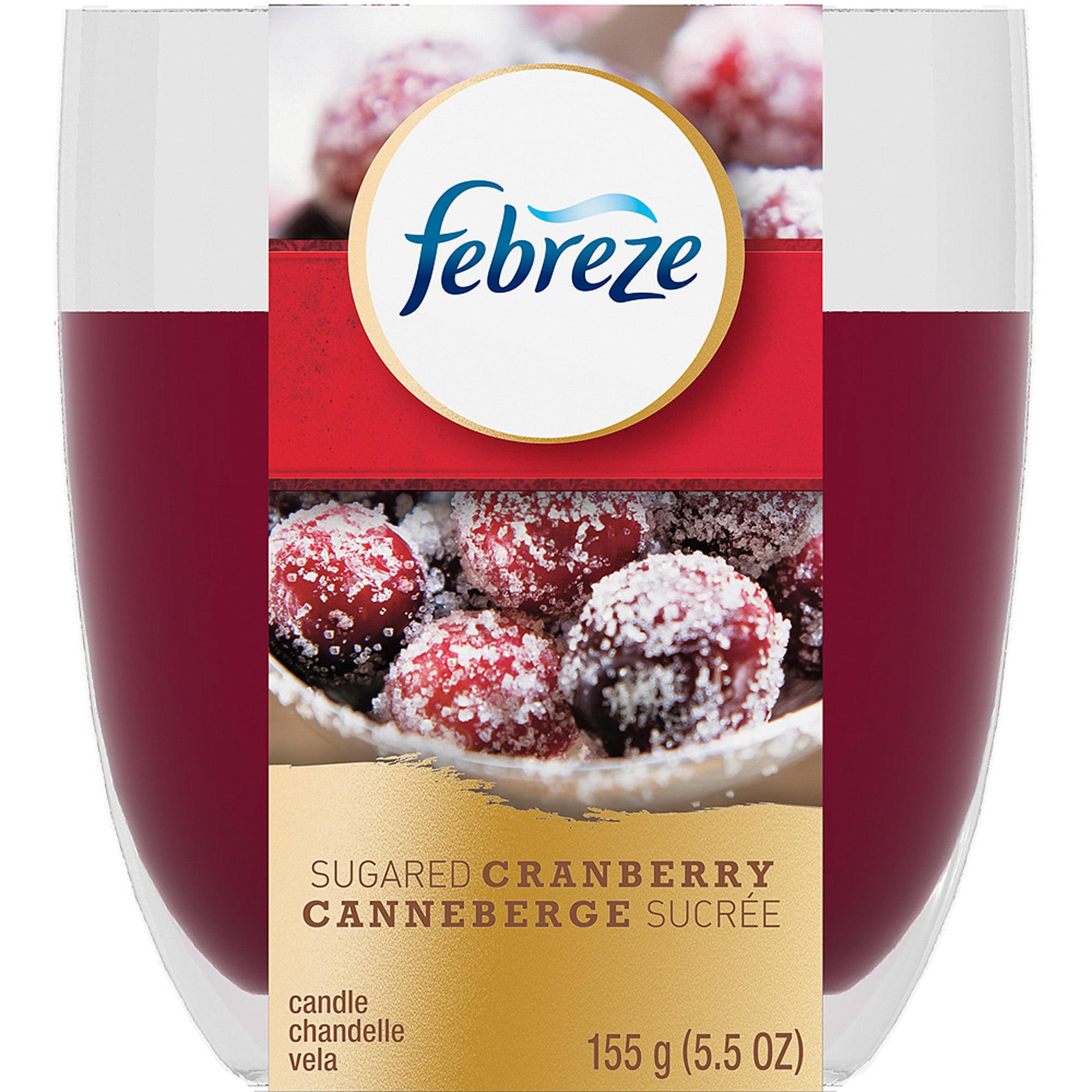 Febreze Candle Sugared Cranberry Air Freshener, 5.5 oz