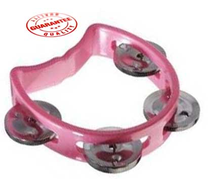 D'Luca 4 Inches Child's Tambourine Pink by D'Luca