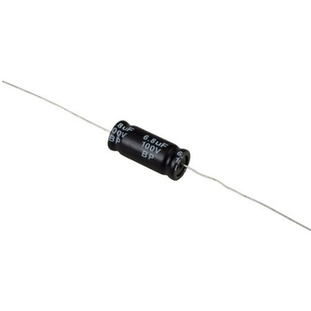100v Radial Mini Electrolytic Capacitor (6.8uF 100V Electrolytic Non-Polarized Crossover Capacitor )