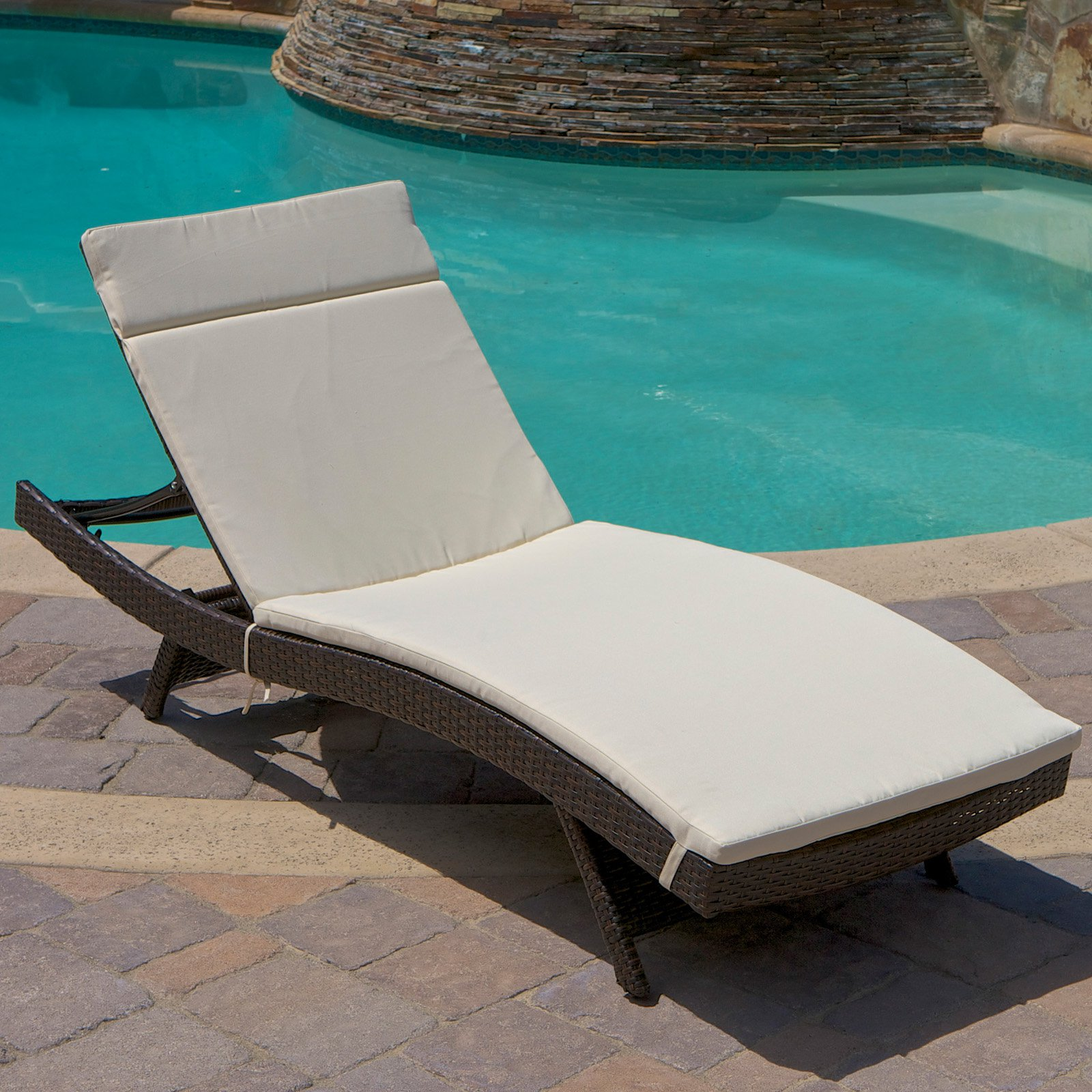 NFusion Outdoor Brown Wicker Adjustable Chaise Lounge