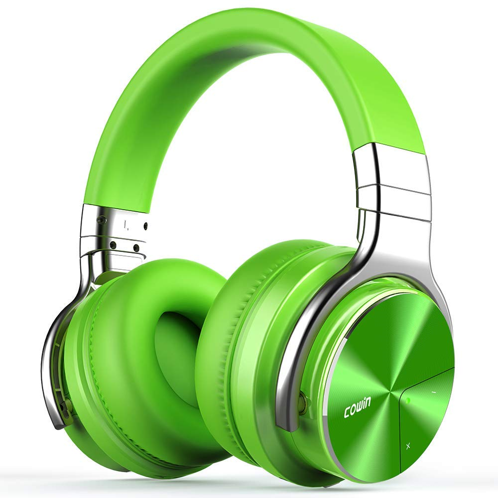 Cowin E7 Pro Active Noise Cancelling Headphone Bluetooth Headphones Microphone Hi Fi Deep Bass Wireless Headphones Over Ear 30h Playtime Travel Work Tv Computer Phone Green Walmart Com Walmart Com