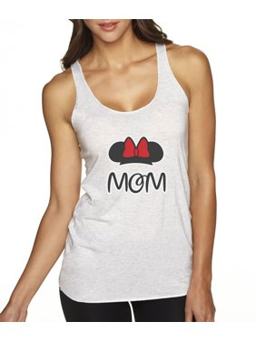 e241b34d Product Image New Way 671 - Women's Tank-Top Mom Fan Minnie Mouse Ears Bow  Family