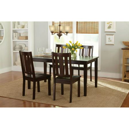 Better Homes and Gardens Bankston 5-Piece Dining Set, Mocha