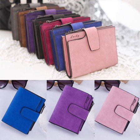 Women Leather Small Mini Wallet Card Key Holder Zip Coin Purse Clutch Handbag (Thirty One Coin Purse Wallet)