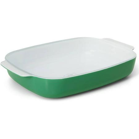 Green Bean Casserole Dish - Creo SmartGlass Bali Large Baking Dish, Light Green