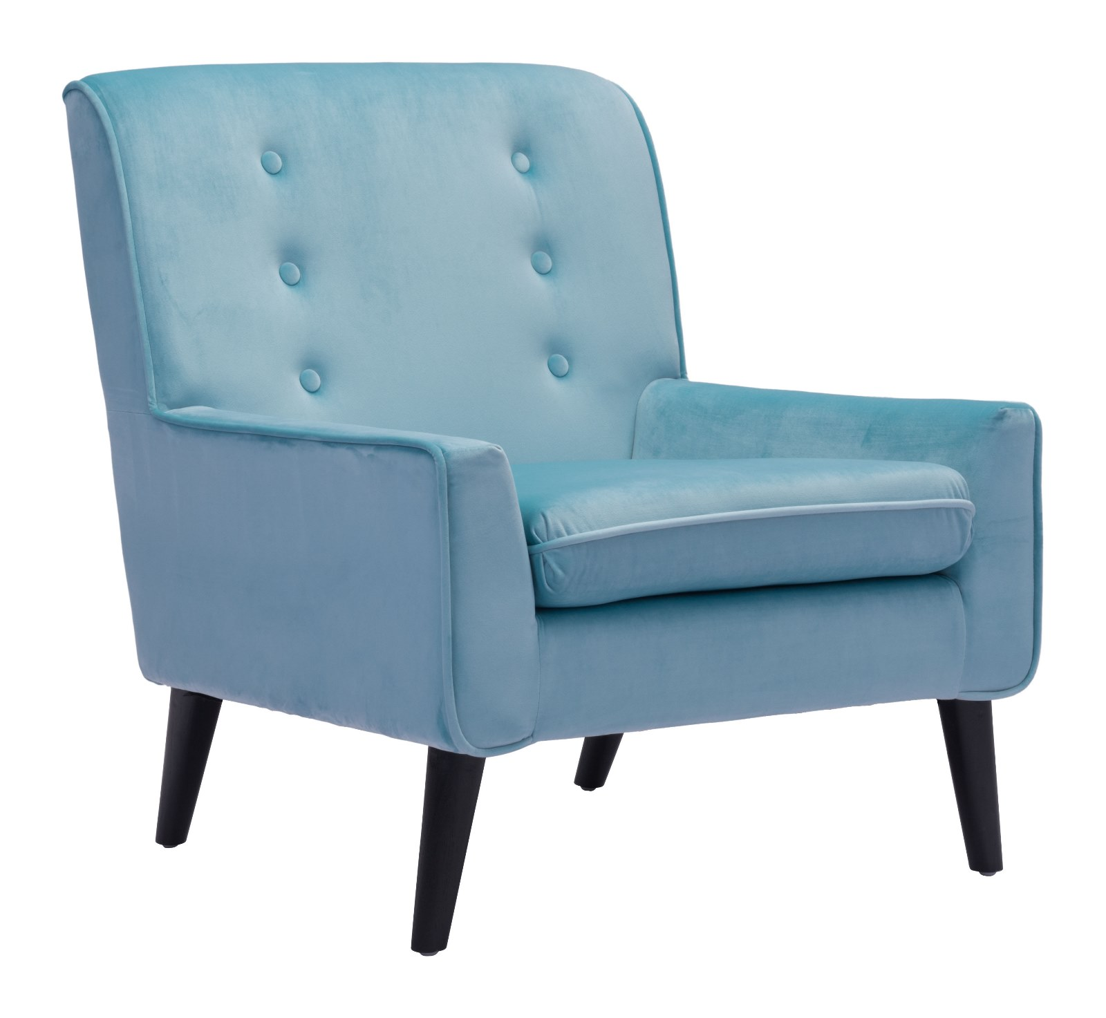 Rollins Modern Arm Chair Blue: Modern Contemporary Arm Chair, Blue, Fabric