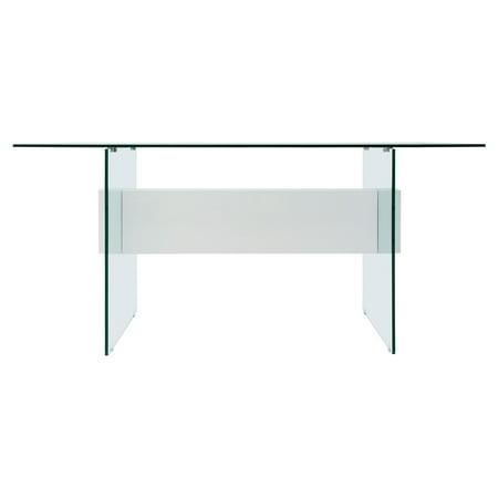 Casabianca Furniture Vetro Tempered Glass Office Desk