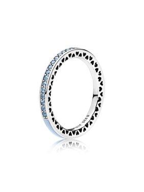 Radiant Hearts of , Air Blue Enamel & Sky Blue Synthet Ring sz 56 191011SSS-56