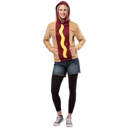 Hot Dog Hoodie Adult Costume (Halloween 2017 Costume Ideas Funny)