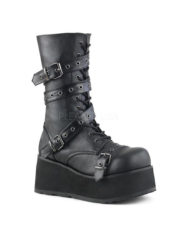TRA205/B/PU Demonia Vegan Boots Unisex BLACK Size: 9