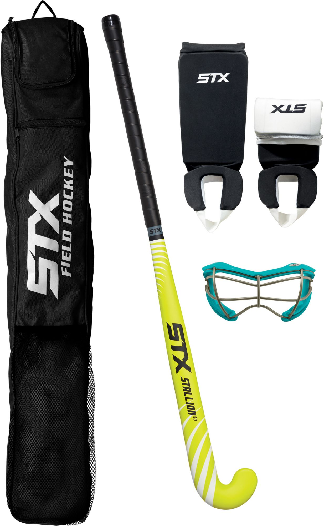 STX Stallion 50 Junior Field Hockey Package Black Yellow by