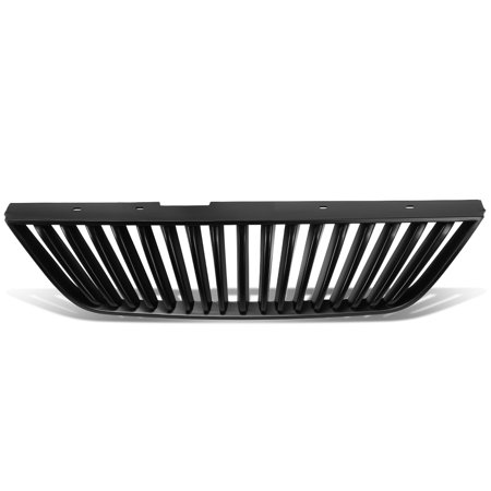 Black Vertical Grille - For 1999 to 2004 Ford Mustang Pony Car ABS Plastic Vertical Style Front Upper Grille (Black) - 4th Gen New Edge 00 01 02 03