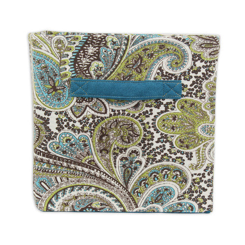 Brite Ideas Living Paisley Storage Bin with Handle