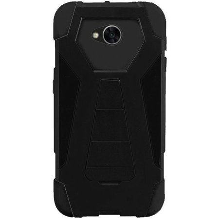 Turbo Rubber - For LG Fiesta / X Charge / X Power 2 Turbo Layer HYBRID KICKSTAND Rubber Case Phone Cover