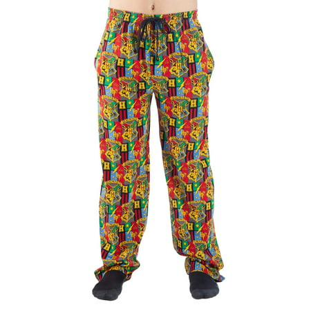 Harry Potter Men's House Crests Print Pajama Lounge Pant