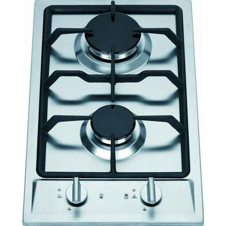 - Ramblewood GC2-43P (LPG/Propane Gas) high efficiency 2 burner gas cooktop