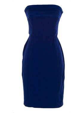 37ee0c6866 Product Image FORNARINA Women s Byon Strapless Cocktail Dress Sz Small  China Blue