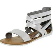Blowfish Women's Ella Silver Dcpu Ankle-High Synthetic Sandal - 8.5M