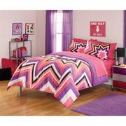 Your Zone Zebra Plush Reversible Comforter Set Walmart Com