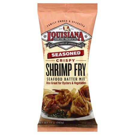 La Fish Fry Shrimp Fry - Seasoned - Case of 12 - 10 oz.