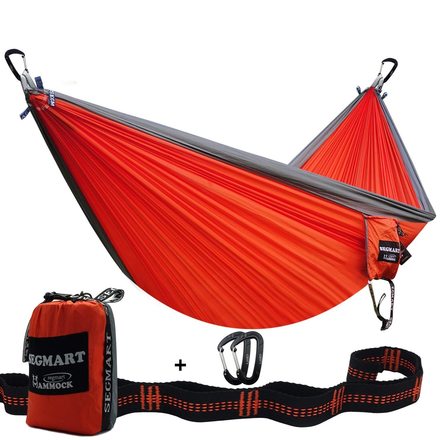 Easy Hanging Tree Hammock with Durable Straps for Camping&Backyard, 600lbs