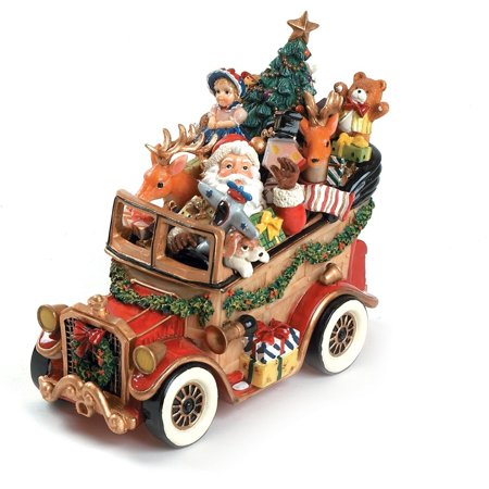Fitz Floyd Collectibles (Santa Classic Car 'We Wish You A Merry Christmas' Musical Figurine)