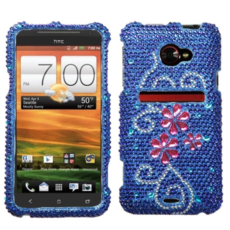 Insten Juicy Flower Diamante Case for HTC: EVO 4G LTE