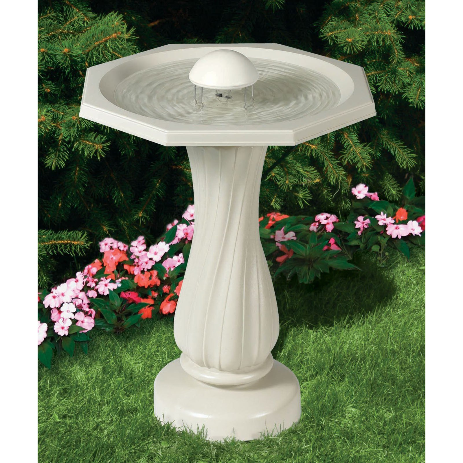 Click here to buy Allied Precision Water Rippling Birdbath 390 by Gold Crest Distributing LLC.