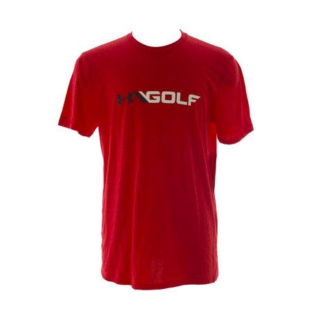 Under armour men 39 s golf logo cotton blend short sleeve t for Under armour shirts at walmart