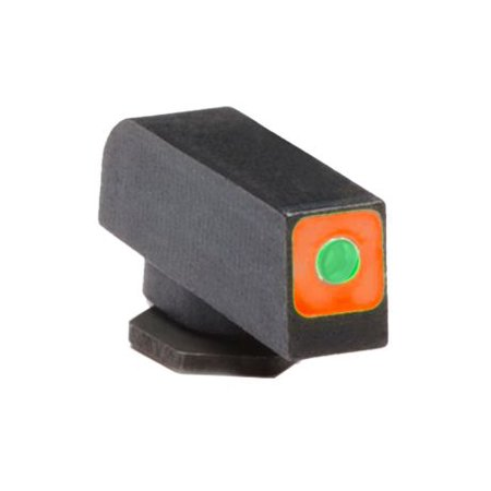 Green Front Night Sight - Ameriglo Night Sight Set - ProGlo Style - FRONT Sight Only - Green w/ Orange Squ