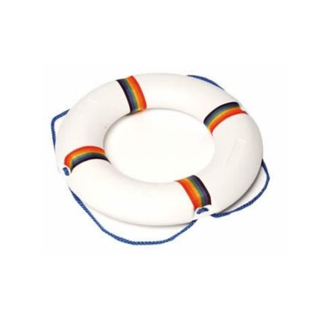 21 White And Multicolored Swimming Pool Summer Safety Ring Buoy