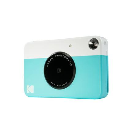 """Kodak Printomatic Instant Print Camera Prints On ZINK 2x3"""" Sticky-Backed Paper - Blue"""