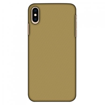 iPhone XS Max Case Tempered Glass Combo, Ultra Slim Designer Back Cover with Tempered Glass Screen Protector for iPhone Xs Max (2018) - Carbon Fibre Redux Desert Sand 15 (Sand Glass Case)