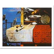 Natura Morte Vivente by Salvador Dali 24x31 Art Print Poster