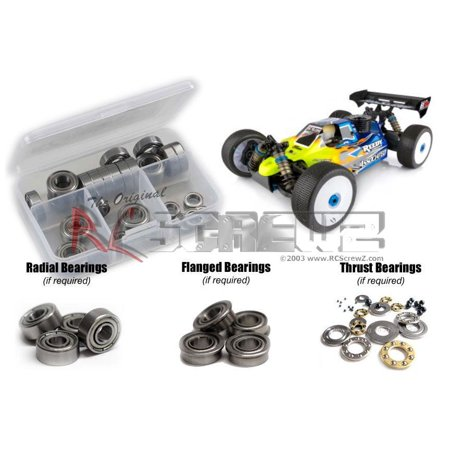 RC Screwz Metal Shielded Bearing Kit for Associated RC18B3.1 Nitro 1/8 Buggy 1 16 Nitro Buggy