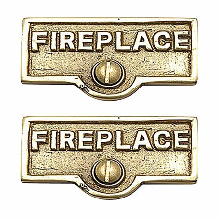 2 Switch Plate Tags FIREPLACE Name Signs Labels