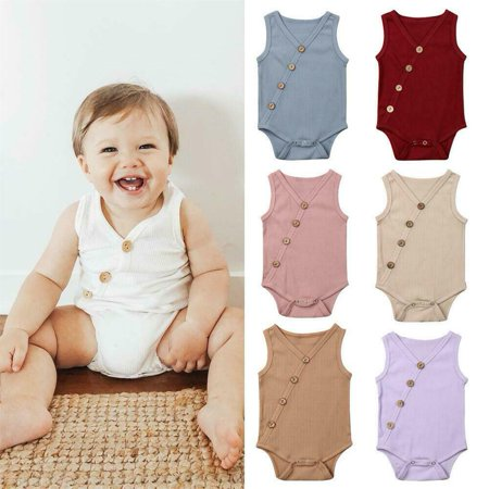 Newborn Infant Kids Baby Boy Girl Clothes Romper Cotton Bodysuit Jumpsuit Outfit