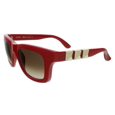 Valentino V691S 613 Red Square Valentino (Valentino Sunglasses Sale)