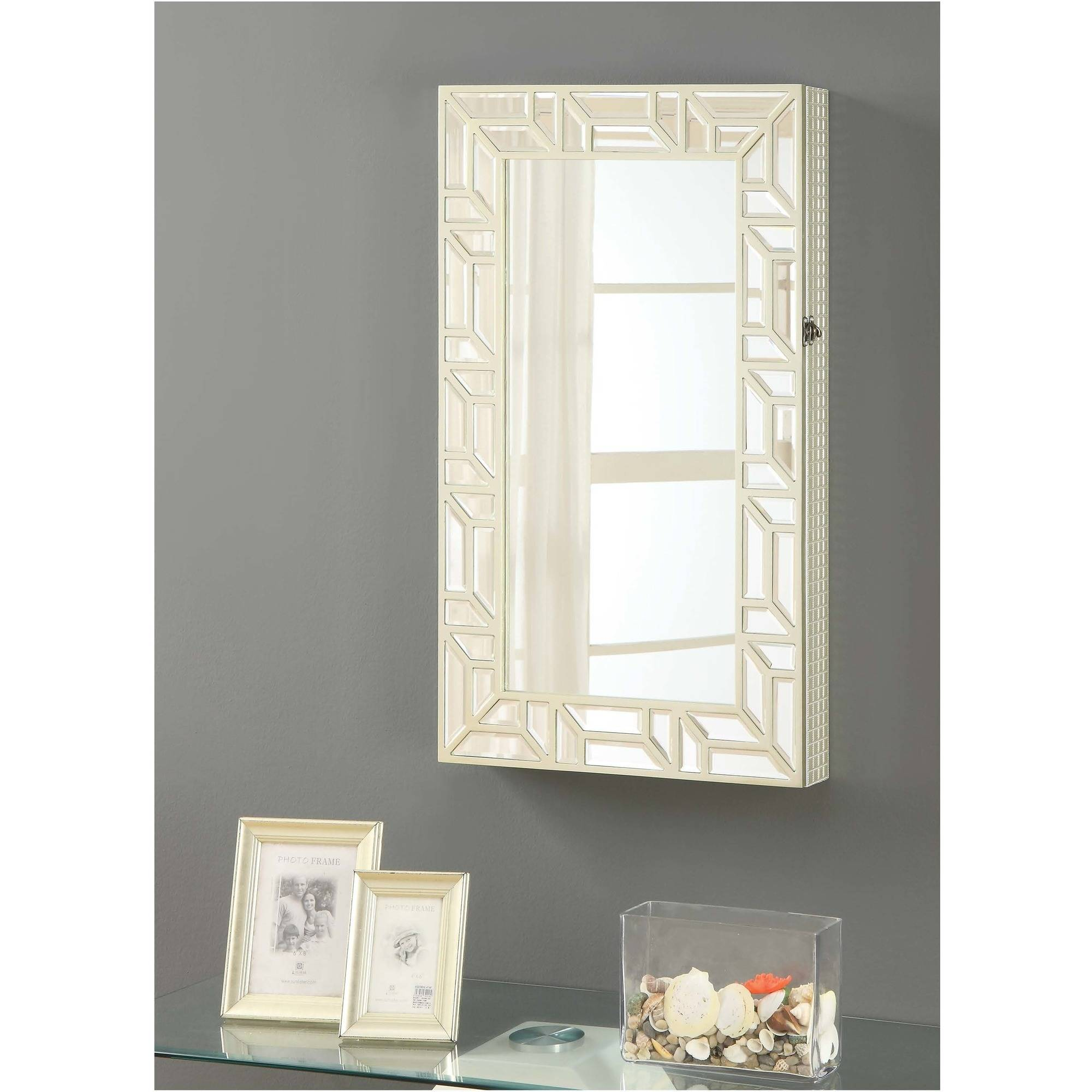 Coaster Company Wall Mounted Jewelry Cheval Mirror, Champagne