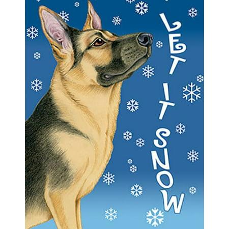 German Shepherd - Best of Breed Let It Snow Garden